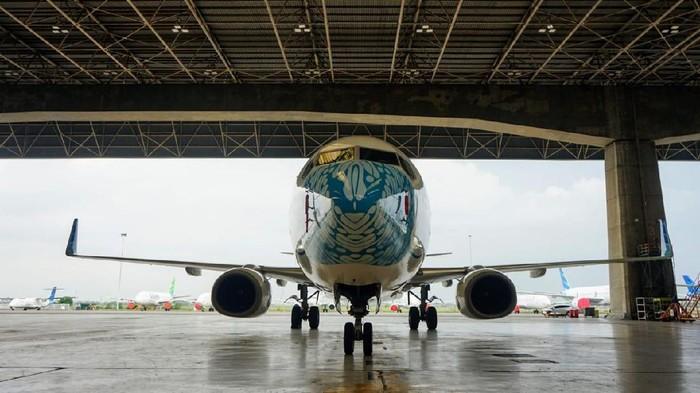 Garuda Indonesia meluncurkan desain mask livery terbaru yang menampilkan corak batik parang. Penasaran?