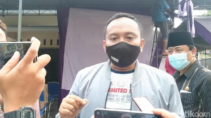 Rumah duka Ketua Gerindra Kabupaten Pekalongan Nunung Sugiartoto, Selasa (20/10/2020).