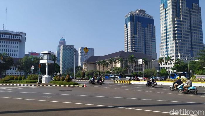 Situasi Patung Kuda, Jakarta, pukul 08.10 WIB.