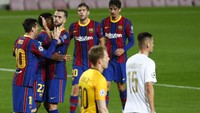 Barcelona Vs Ferencvaros: 10 Pemain Barca Menang 5-1
