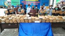 BNN Banten Musnahkan Ganja 301 Kilogram Kiriman Aceh