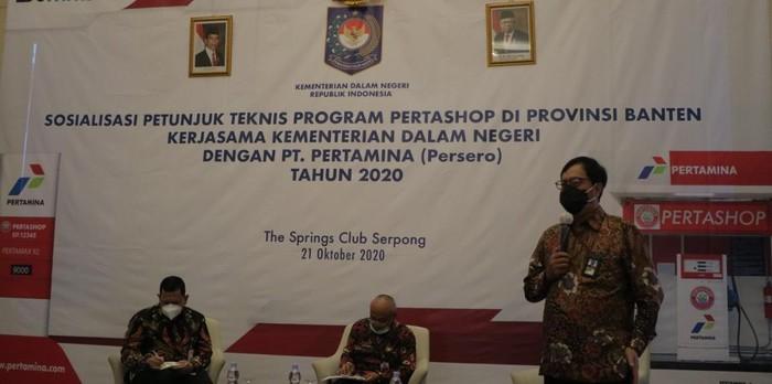 Di Tangerang Selatan, Pertamina buka peluang kerja sama Pertashop ke pemerintahan desa, koperasi serta UKM  melalui kegiatan sosialisasi bersama Kemendagri.