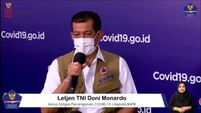 Ketua Satgas COVID-19 Doni Monardo