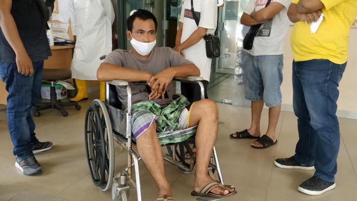 Korban saat dibawa ke rumah sakit