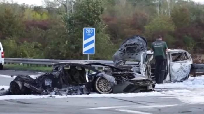Lamborghini Aventador kecelakaan