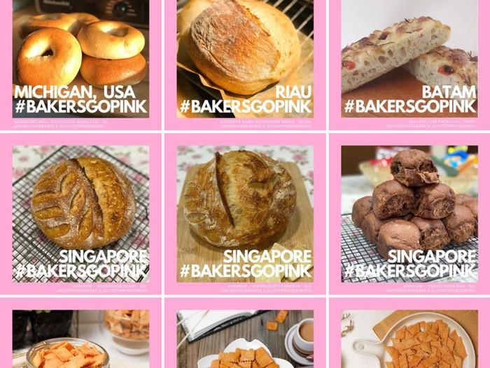Melalui Bakers Go Pink 40 Baker Jual Roti Untuk Penderita Kanker Payudara