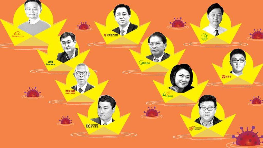 Daftar Orang Kaya China yang Makin Tajir di Tengah Pandemi Corona