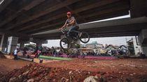 Kolong Tol Becakayu Disulap Jadi Bike Park Lho