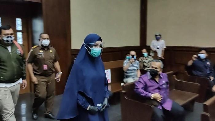 Jaksa Pinangki Sirna Malasari menjalani sidang lanjutan di PN Tipikor Jakarta, Rabu (21/10/2020).