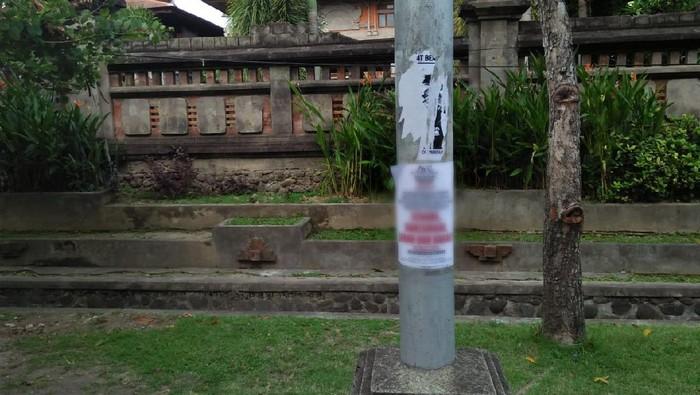 Poster berisi provokasi aksi tolak omnibus law di Bali.