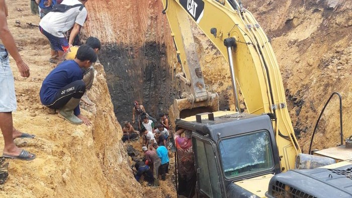 Tambang Batubara di Muara Enim Sumsel Longsor