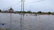Banjir Rob Rendam 4 Desa di Muaragembong Kabupaten Bekasi