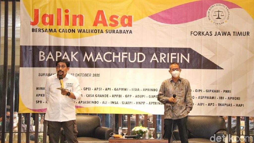 Pengusaha Forkas Dukung Machfud-Mujiaman di Pilkada Surabaya