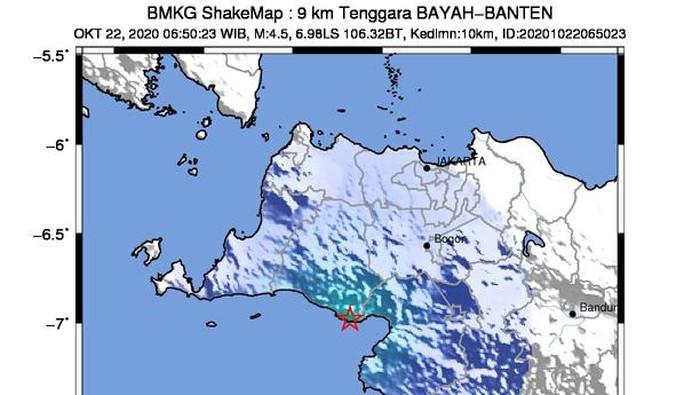 Gempa darat di Kecamatan Bayah, Kabupaten Lebak, Banten