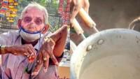 Kondisi Tangannya Patah, Kakek 70 Tahun Ini Tetap Semangat Jualan Teh