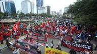 Massa Buruh Tidak Puas Hanya Bertemu Perwakilan Jokowi