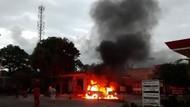 Mobil Bermuatan Gas Elpiji Terbakar di SPBU Cianjur, Satu Tabung Meledak