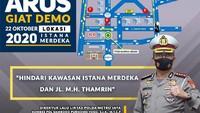 Antisipasi Demo di Jakarta, Simak Pengalihan Arus Lalu Lintasnya
