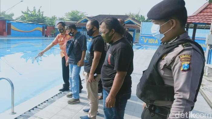Polisi seklidiki pelajar di tulungagung Tewas Tenggelam di Kolam Renang