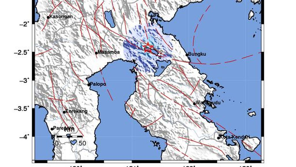 Gempa Magnitudo 4 Berpusat di Darat Guncang Luwu Timur Sulsel