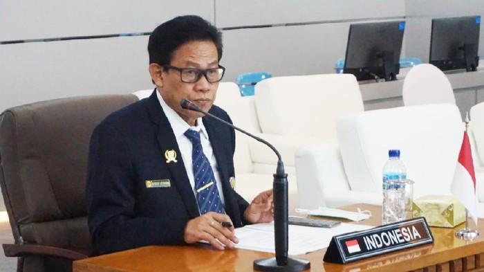 Sekretaris Jenderal Kementan Momon Rusmonosaat mewakili Mentan Syahrul Yasin Limpo dalam pertemuan dengan Menteri Kehutanan ASEAN (AMAF) ke-42