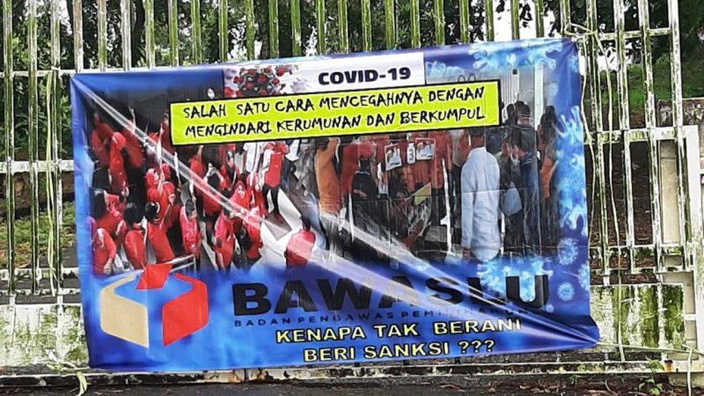 Spanduk Bawaslu Tak Berani Sanksi Beredar di Kepri, Bawaslu Lapor Polisi
