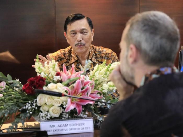 CEO US-IDFC Adam Boehler bertemu Menko Kemaritiman Luhut Binsar Pandjaitan