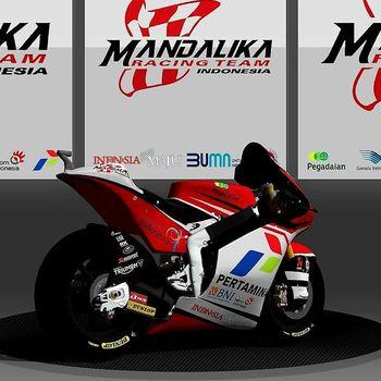 Desain livery motor MotoGP Indonesia