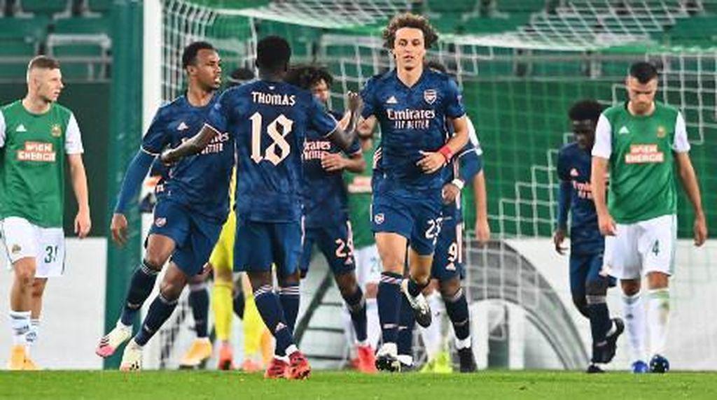 Sempat Tertinggal, Arsenal Menang 2-1 Lawan Rapid Wien