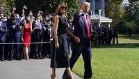 Melania Trump Eksis Lagi Setelah Kena Corona, Muncul Tanpa Masker