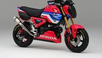 Honda Racing Co., Ltd. (HRC) resmi memperkenalkan motor imut Honda Grom yang telah dikustomisasi untuk kebutuhan balap satu merek, HRC Grom Cup. Tak hanya perubahan livery bertema racing, Grom berbaju HRC juga mendapatkan ubahan di bagian teknis untuk meningkatkan performa. Foto: Dok. HRC