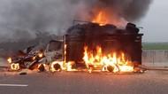 Mobil dan Truk Kecelakaan Lalu Terbakar di Tol Pemalang