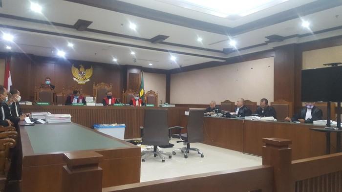 Sidang Kivlan Zen kasus kepemilikan senpi ilegal dan peluru tajam di PN Jakpus, Jumat (23/10/2020).