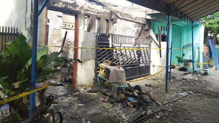Kondisi terkini rumah di Tangerang usai kebakaran yang tewaskan sekeluarga.