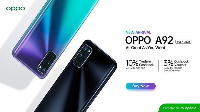 OPPO A92 RAM 6 GB