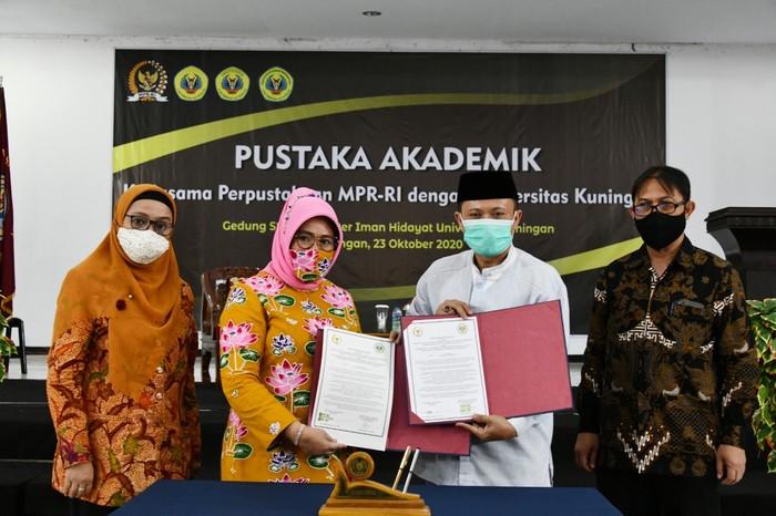 Perpustakaan Majelis Permusyawaratan Rakyat (MPR) kembali menjalin kerja sama dengan perguruan tinggi di Indonesia.