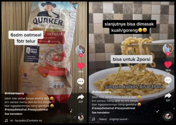 Resep Mie Oatmeal, Mie Sehat Tanpa Tepung yang Cocok Buat Diet