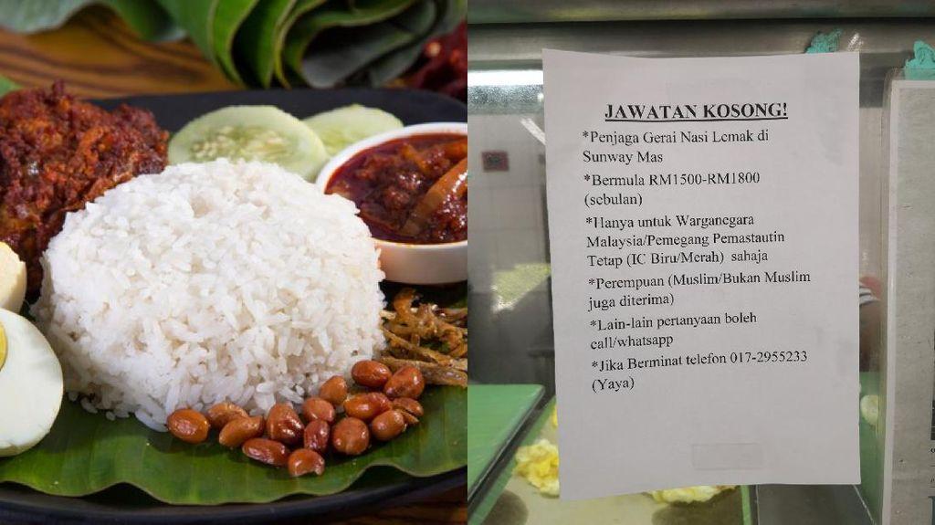 Wow! Gaji Penjaga Warung Nasi Lemak di Malaysia Capai Rp 6,3 Juta