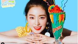 Cantiknya Irene Red Velvet Saat Pose Bersama Minuman Favoritnya