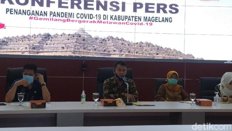 konferensi pers penanganan Covid-19 di Kabupaten Magelang