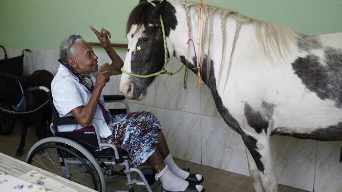 Masa isolasi kerap menimbulkan dampak kesepian bagi mereka yang melakukannya. Guna usir rasa sepi, para lansia di Brasil berteman dengan sejumlah hewan.