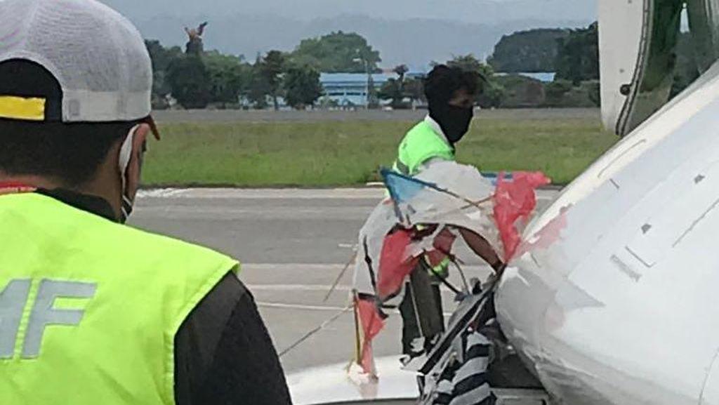 Video Layang-layang Nyangkut di Pesawat Citilink Saat Mendarat di Yogya