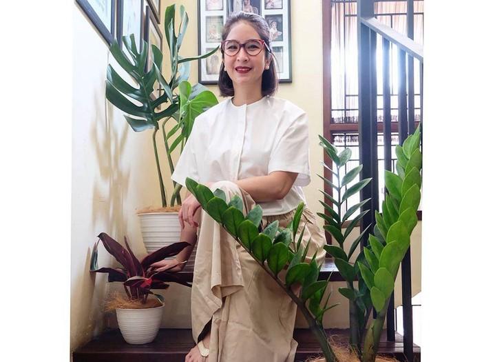 Novita Angie dan koleksi tanaman hiasnya. Foto: Dok. Instagram Novita Angie