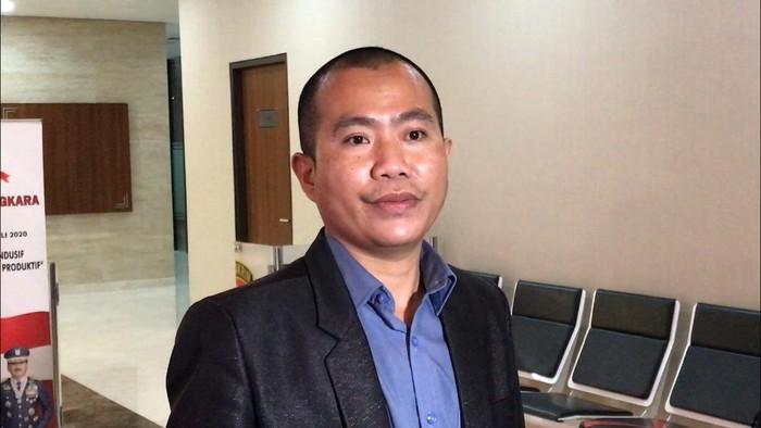 Pengacara Gus Nur, Chandra Purna Irawan di Bareskrim Polri. (Yogi Ernes/detikcom)