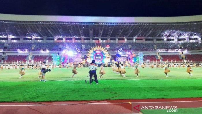 Peresmian Stadion Lukas Enembe, sebelumnya bernama Stadion Papua Bangkit.
