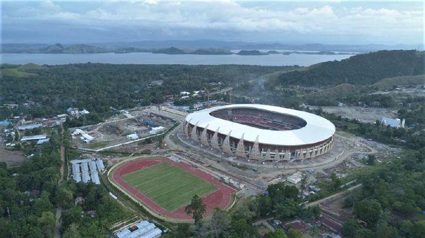Stadion Papua Bangkit akhirnya diresmikan kemarin, Jumat (23/10/2020). Stadion diresmikan setelah pekerjaannya rampung tahun lalu. Begini penampakannya: