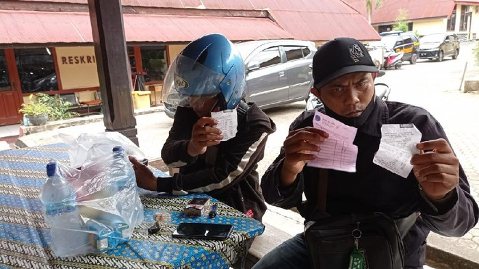 2 Orang Ojek Online yang menjadi Korban orderan fiktif yang mengatas namakan polisi