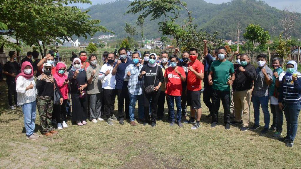 Wali Kota Batu Ajak AMSI Jatim Sarapan Pagi di Sawah Rojo