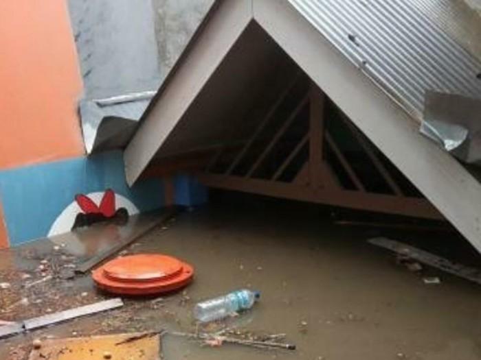 Banjir rendam permukiman di Kota Bandung.