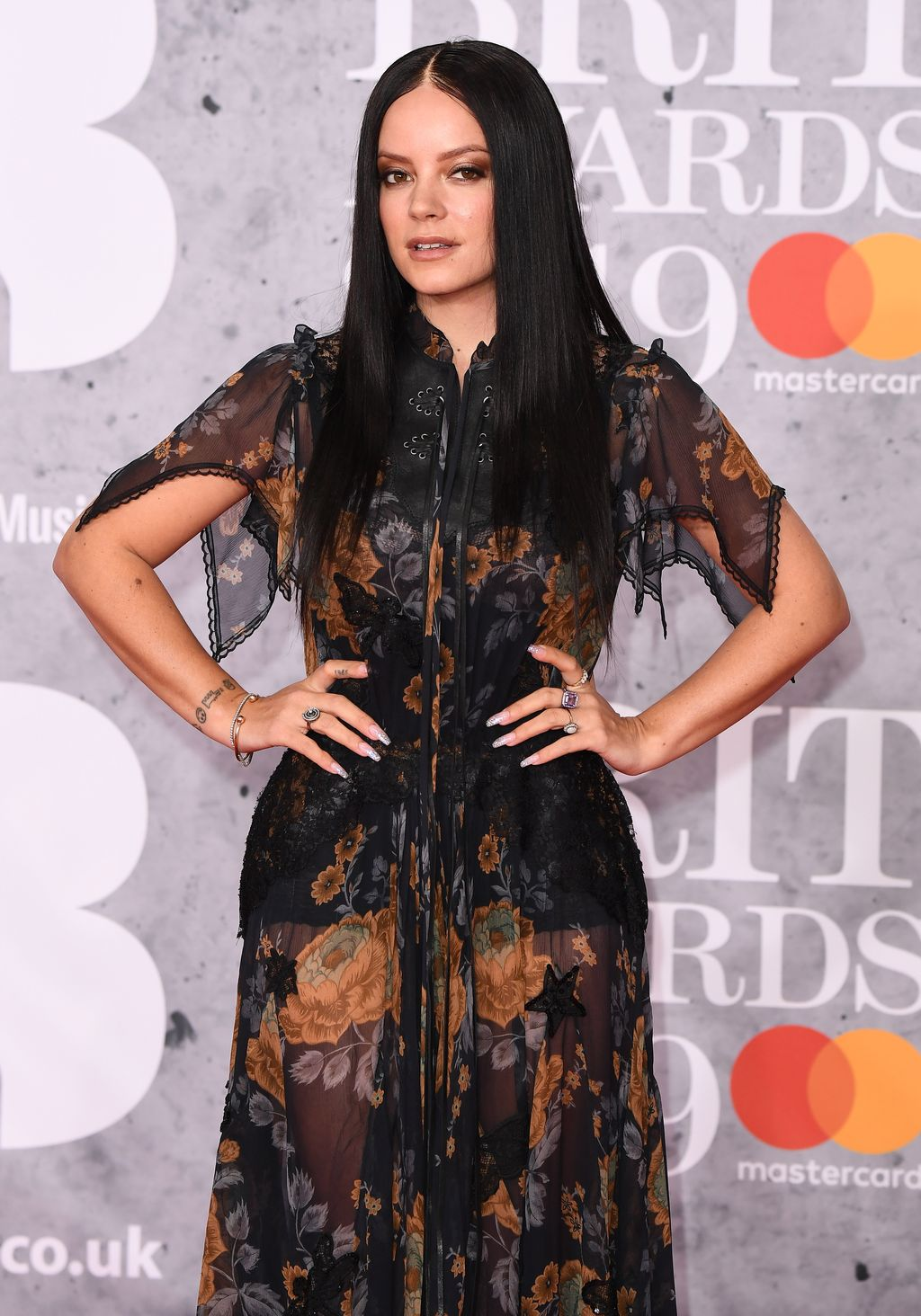 LONDON, ENGLAND - FEBRUARY 20: (EDITORIAL USE ONLY)   Lily Allen attends The BRIT Awards 2019 held at The O2 Arena on February 20, 2019 in London, England. (Photo by Jeff Spicer/Getty Images)